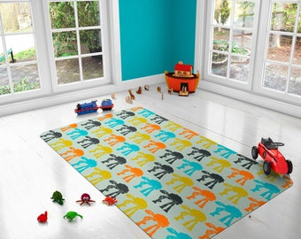 Star Wars rug, ATAT rug, Walkers Rugs, carpet, modern rug, nursery decor, men gift, boyfriend gifts, cool rug, Freek gift, Colorful kid rugs
