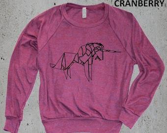 Womens ORIGAMI UNICORN Sweatshirt Sweater)Yoga Clothes,Tumblr Graphic Sweatshirt,Minimalist Sweater,Hoodie,Birthday Gifts,instagram, Gifts