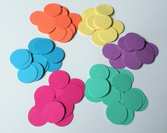 200 Circle Confetti (1 inch), Mix-and-Match - You Choose Colors