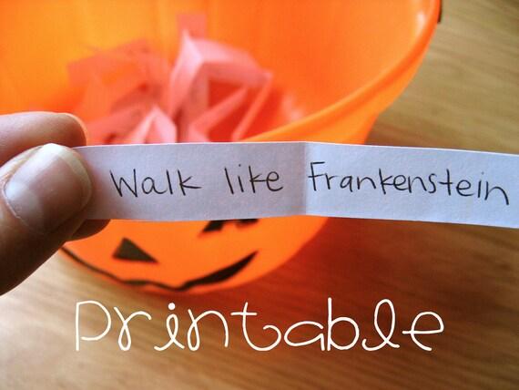 Printable PDF Halloween Charades Party Game Idea