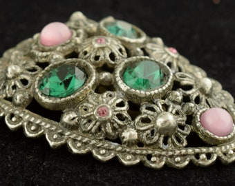 Signed New England Glass Vintage 1930s Dress Clip ~ Lot 2236
