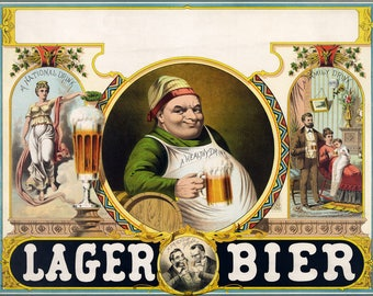 Poster, Many Sizes Available; Lager Bier C1870S