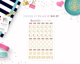 Counted Cross Stitch / Embroidery - Planner Stickers - Choice of Styles - For Erin Condren, MAMBI, Filofax, Plum Planner, Kikki K and mor