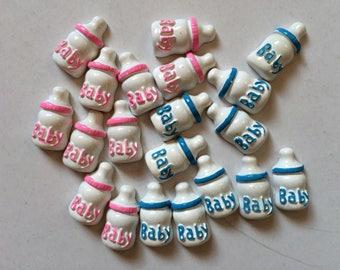 Milk Bottle Baby Shower Crafts Confetti- Baby Bottle Confetti Half cut- Miniature Baby Bottle-Ceramic baby bottle crafts- baby shower deco