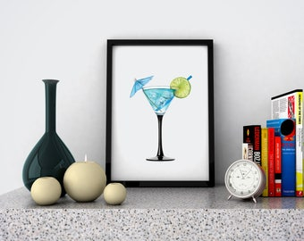 Wallart | Alcohol cocktail | Print Wall | Art Decor| Daily Motivation| Poster | Printable| Quote