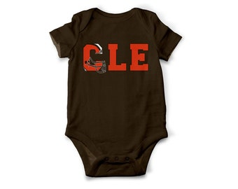 Cleveland Browns Inspired Body Suit | Browns | Baby Shower Gift | CLE | Go Browns | Cleveland Football | Ohio Pride | Cleveland | Dawg Pound