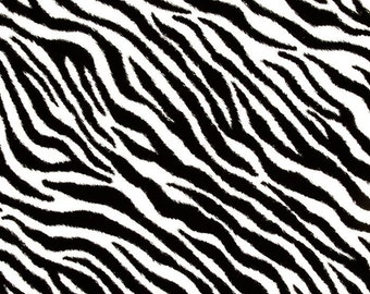 Tissu Animal tissu imprimé 100 % coton à motifs zèbre 1 Yard