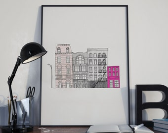 New York Print, New York City printable, New York Skyline, NYC Print, Digital Print, Instant download