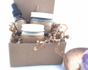 Organic Skincare Set, Nefertiti Organic Facial Products, Gift for her, Anti-Aging Products Skincare Gift, Skincare Regime, Anti-Aging Regime