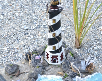 OOAK Miniature Lighthouse Beach Ocean Scene