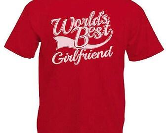 World's best girlfriend adults mens t shirt 12 colours size s - 3xl