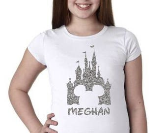 Magic Kingdom Shirt, Girls Magic Kingdom, Girls Castle Shirt, Monogram Castle Shirt, Monogram Magic Kingdom, Disney Family Shirt
