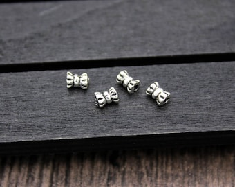 10pcs-3.3*4.5mm Sterling Silver Bead,Sterling Silver Spacer Bead,Sterling silver beads spacer