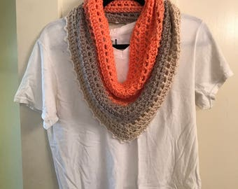 Pink/Gray/Cream Cowl (Adult)