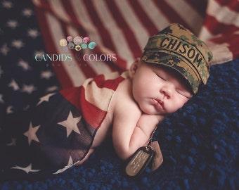Baby Marines cap, BAby US marine woodland, Military Cap, Baby military cap ,All Branches (newborn-Adult) Desert cap, Marines desert hat