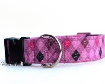 ANGIE: Designer Pink diamond Dog Collar Urban Rose and Co  #Pets #Dog #Collar #Colorful #Quality #Urbanrose #Chic #Designer