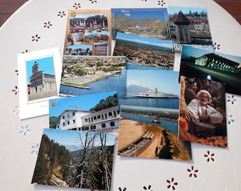 Lot of twelve postcards from different places