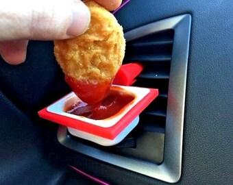 CAR DIPCLIP Sauce Holder McDonalds Dip Clip Pot Accessories Novelty Gift