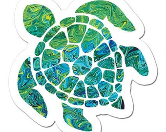 The Mini Sea Turtle Art Sticker
