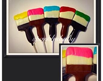 Paint Brush Lollipop - Paint party Chocolate lollipop favors