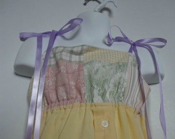 Girls Easter Dress. Little Girls Dress. Upcycled Dress. Eco Friendly. Spring Fashion. Shirt Dress. Size 4.