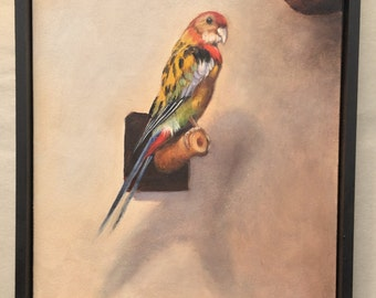 Leonardo's Bird Original Oil Painting