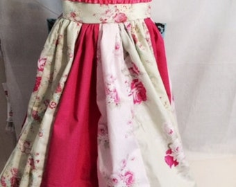 Gorgeous Roses Dress size 10, Tea Party Dress, Birthday Dress