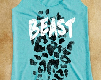 Beast Workout Tank. Workout Shirt. Workout Clothes. Work Out Clothes. Exercise Clothing. Weight Lifting Shirt. Fitness Tank. Exercise Tank.