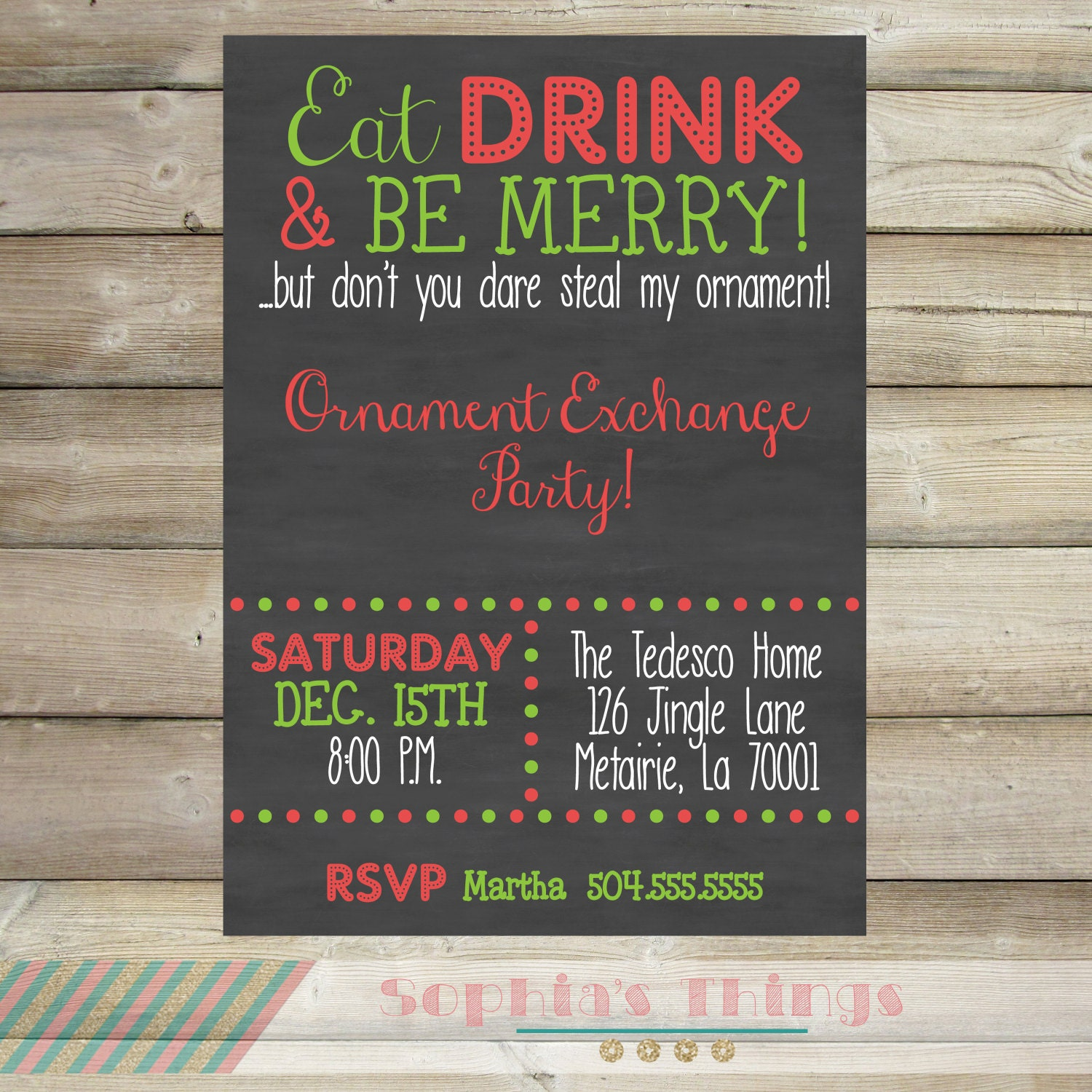 Ornament Exchange Party, Christmas Party Invitation, Holiday Party, Cookie Exchange Party, Christmas Work Party Invite, Funny, Printable