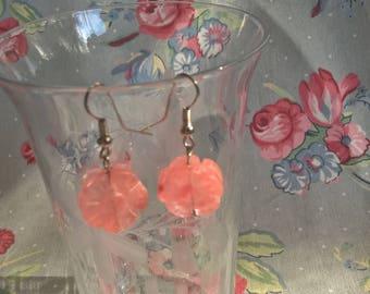 Pretty In Pink Quartz Dangle  Earrings