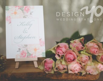 Vintage Bouquet Wedding Invitations - Classic floral Wedding Invites, Flowers, Roses, textured stock