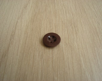 plastic button Brown imitation old leather