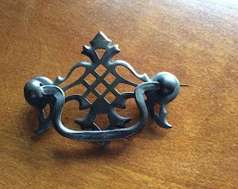 Vintage Brass Drawer Pull | Antique Found Object