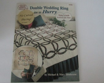 American School of Needlework Leaflet #4164 Double Wedding Ring in a Hurry