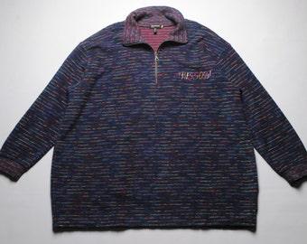 vintage MISSONI Mare sweater acid classic colorway SIZE M/L oversized rainbow