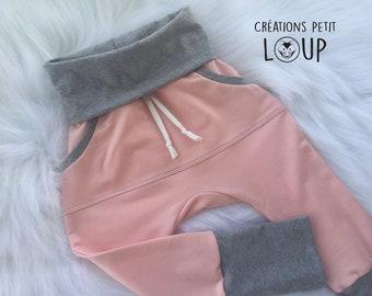Pants scalable/Grow-with-me-pants/bamboo / salmon / pink
