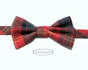 Boys bow tie, bow tie, boys ties, bow tie for boys, tartan bow tie, red bow tie, red tartan, boy bow tie, toddler bow tie, baby bow tie