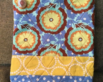 Tall Floral Zippered Pouch Amy Butler