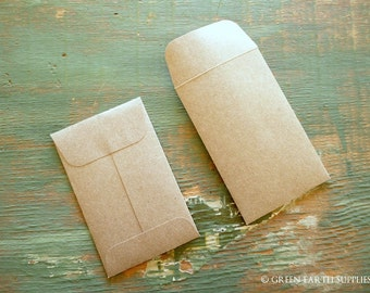 100 recycled cards envelopes cardstock by greenearthsupplies 100 mini seed packet envelopes kraft brown business card recycled gift card envelopes reheart Choice Image
