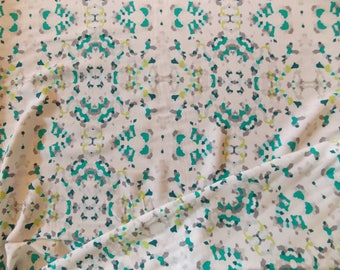Abstract Confetti Design Rayon Challis fabric by the yard