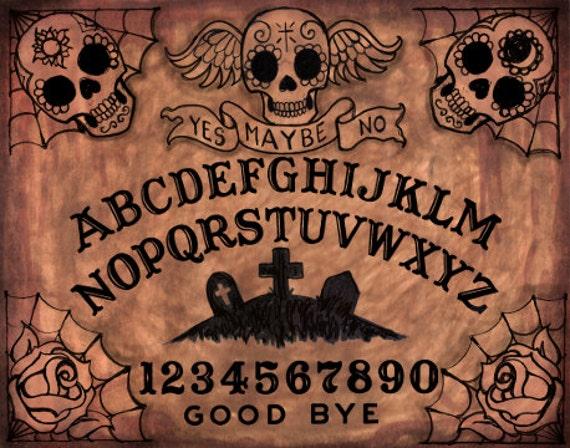 Day of the Dead Ouija board archival print