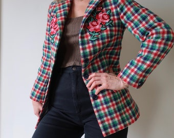 Plaid Wool Hunting Jacket
