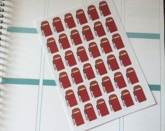 Planner Stickers 36 Gas Pumps Scrapbook Stickers Day Planner Plum Paper Planner