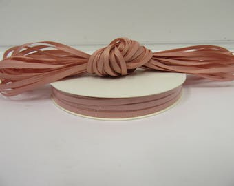 Grosgrain Ribbon 3mm 6mm 10mm 16mm 22mm 38mm 50mm Rolls, Dusky Pink, 2,10, 20 or 50 metres, Ribbed Double sided,