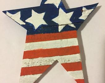 Rustic patriotic star