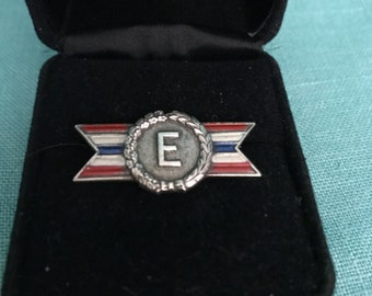 Vintage WWII Army Navy production award sterling