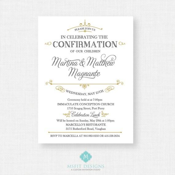 Printable Baptism Invitation- Unisex Baptism Invitation - Baby Dedication, First Communion, Confirmation, Christening - Printable invitation