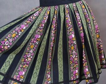 VINTAGE DRESS -  Flower Stripes