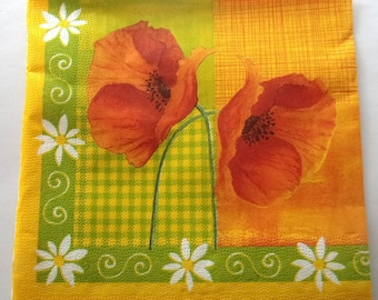 paper poppies and daisies No. 20 napkins   3539