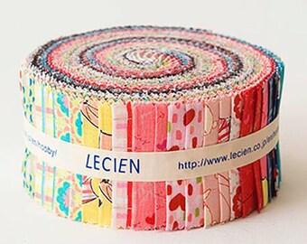 "Radiant Girl Lecien 2 1/2"" Strips Jelly Roll  42 in Bundle"